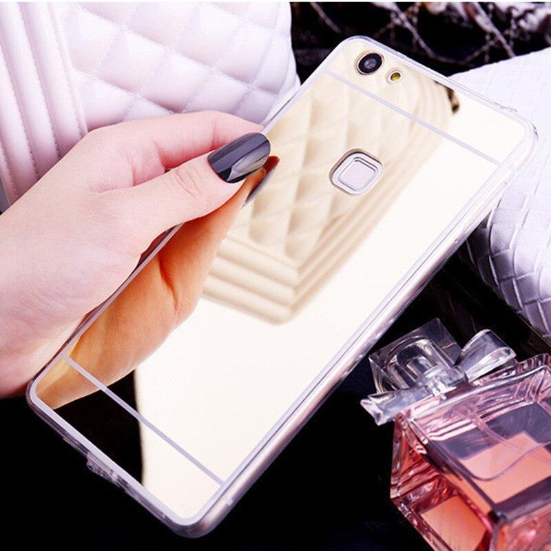 Luxury Plating Mirror Case For Xiaomi Mi A1 Cases Mi 5X Amor Cover For Xiaomi Redmi 4X Case Silicon Redmi 4A 3S Cover Coque