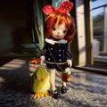 JD019 Cute Enfant Short Cut Wigs for BJD Dolls High Tempreture Wire Headwear Fashionable Synthetic Mohair Doll Hair 083