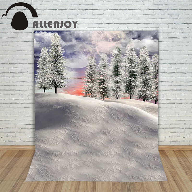 Background photography studio Christmas Snow Forest Moon Winter background for photo shoots vinyl children's photographic camera christmas photographic background snow snow in winter new year photo vinyl cloth year of the rooster