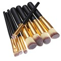 Nueva Llegada 8 unids Mini Brocha Sombra de Ojos Pinceles de Maquillaje Sintético Negro Herramientas de Maquillaje Portátiles