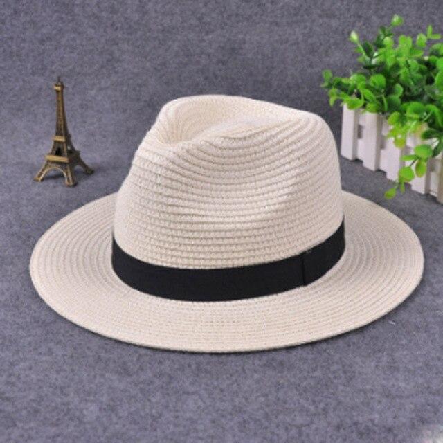 MAERSHEI di modo di Estate bianco piatto tesa tesa larga cappello di paglia  delle donne fedora di jazz delle donne cappello cappello di sole-ombreggiatura  ... 5eac19c295f1