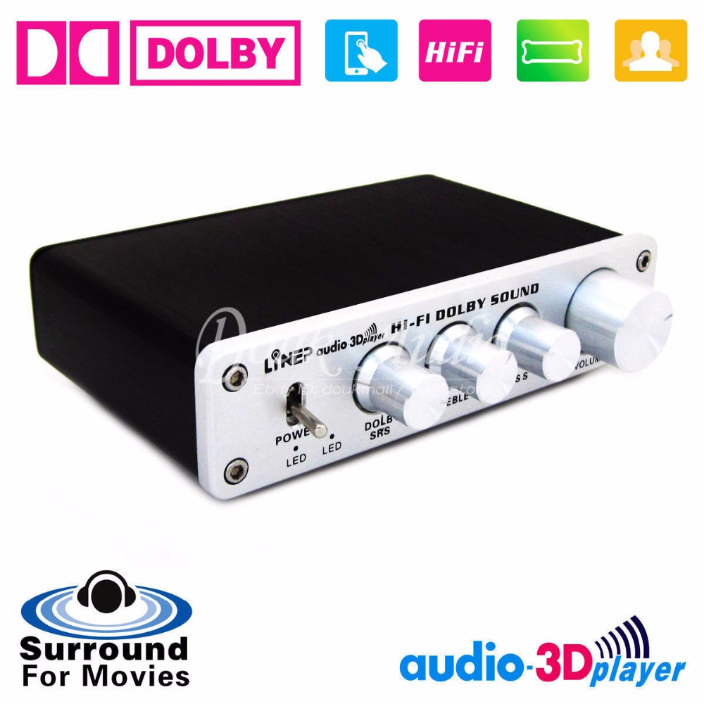 US $62 64 13% OFF|HiFi Dolby Surround Audio Processor USB DAC Preamp ASIO  Sound Card Headphone amp-in Amplifier from Consumer Electronics on
