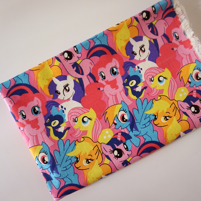 Cartoon MY Cute Little Girl Poni Cotton Polyester Canvas Fabric For Patchwork  Upholstery Fabric Sewing Material
