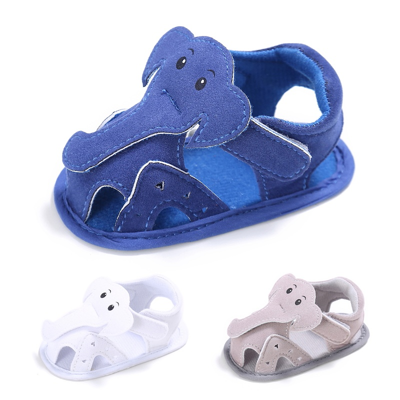 Kids Elephant Pattern Hollow Shoes Summer Baby Boy Casual Prewalkers Soft Sole Shoes 0-18 M New