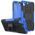 Caso para huawei y6 ii caja del teléfono 2in1 dual layer pata de cabra heavy duty armor hybrid a prueba de golpes de silicona para huawei y6 ii 2