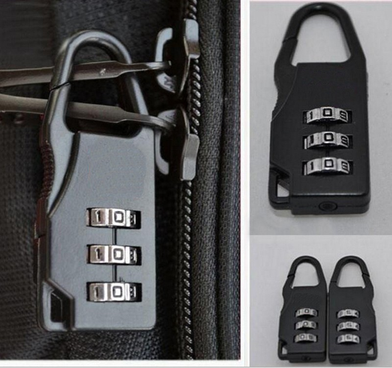 3 Digit Dial Combination Code Number Lock Padlock For Luggage Suitcase Drawer Suitcase Security Accessories Supplies Products