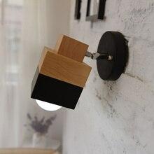 Nordic Japanese brass wall light post -modern simple bathroom mirror front lamp bedroom bedside