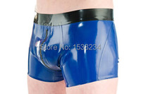 Sexy Latex Lingerie Rubber Boxer Shorts Zip Crotch For Man Plus Size Hot Sale