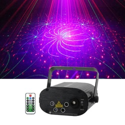Sharelife 4 obiektyw Mini 80 RGRB wzór światło laserowe muzyki pilot zdalnego sterowania silnika prędkość DJ koncert strona główna pokaż etap oświetlenie 80 RGRB