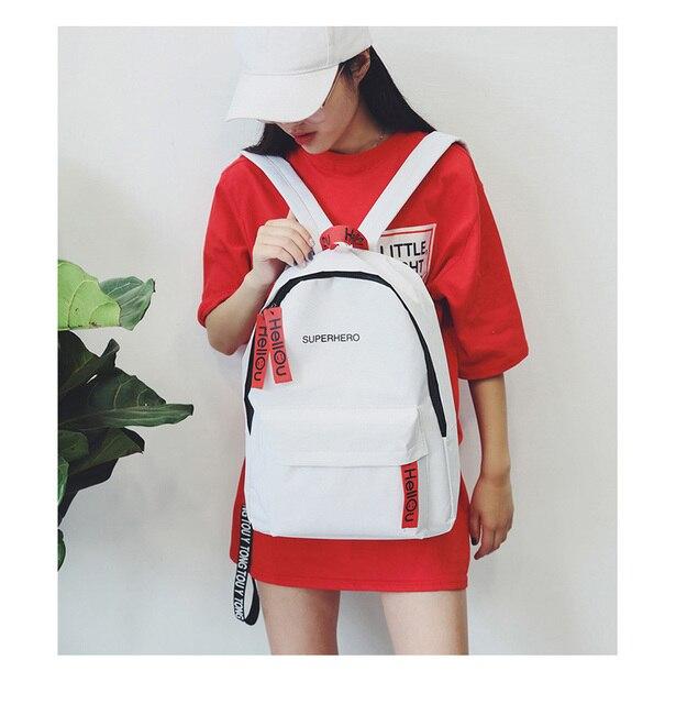 118db93cdaf2c Women Girls Fashion Letter Print Preppy Style School Bag Travel Backpack  Bag Leisure Korean Style Knapsack Bags for teenage Girl