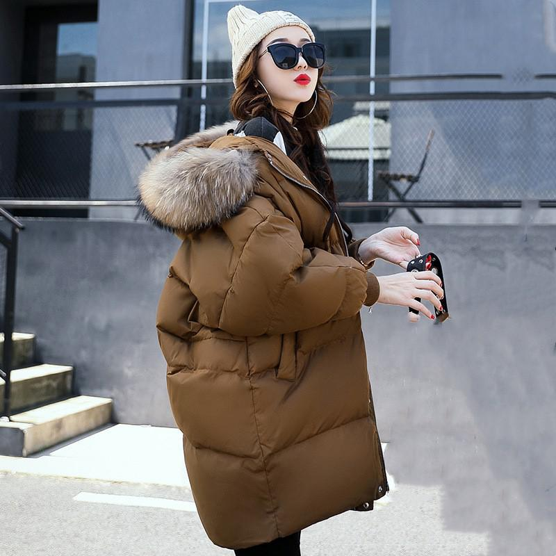 2017 Winter Women Hooded Coat Fur Collar Thicken Warm Long Jacket Female Plus Size Outerwear Parka Ladies Chaqueta Feminino maxi coats thicken winter jacket women 2017 fur collar over knee long winter jacket parka warm cotton coat chaqueta mujer c2601