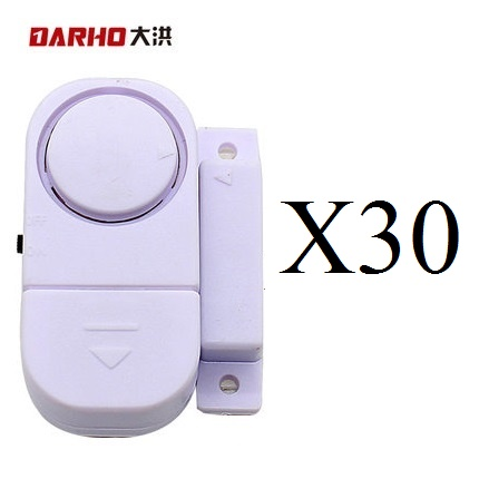 DARHO Wireless Home Security Alarm Systems Door/Window entry alarm  Safety Security Guardian Protector Pack of 30 pcs self adhesive wireless magnetic sensor home door window entry burglar security alarm safety guardian protector system white new