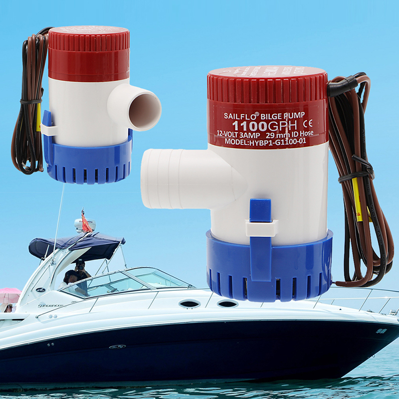 1100GPH 12V Bilge Pump 3AMP 12N Marine Water Pump Submersible Yacht Boat New ...