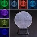 Star Wars Estrella de La Muerte 3D LED Táctil Luz de La Noche Interruptor de Lámpara de Escritorio de Mesa Decoración de la Habitación de Colores Niños Del Regalo Del Bebé