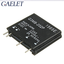 цена на 1/2PCS Relay Module G3MB-202P G3MB 202P DC-AC PCB SSR In 5V DC Out 240V AC 2A Solid State Relay Module ZK30
