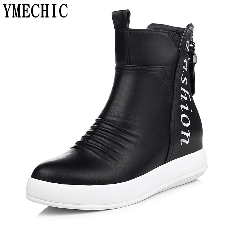 Popular Flat Black Ankle Boots-Buy Cheap Flat Black Ankle Boots ...