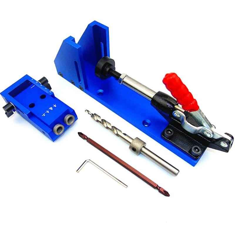 Kit de système de perçage de menuiserie de gabarit 2 trous Pro Pocket outil de travail du bois professionnel
