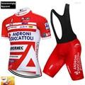 Джерси для велоспорта с коротким рукавом и гелевыми шортами для команды ANDRONI  модель 16D  2019