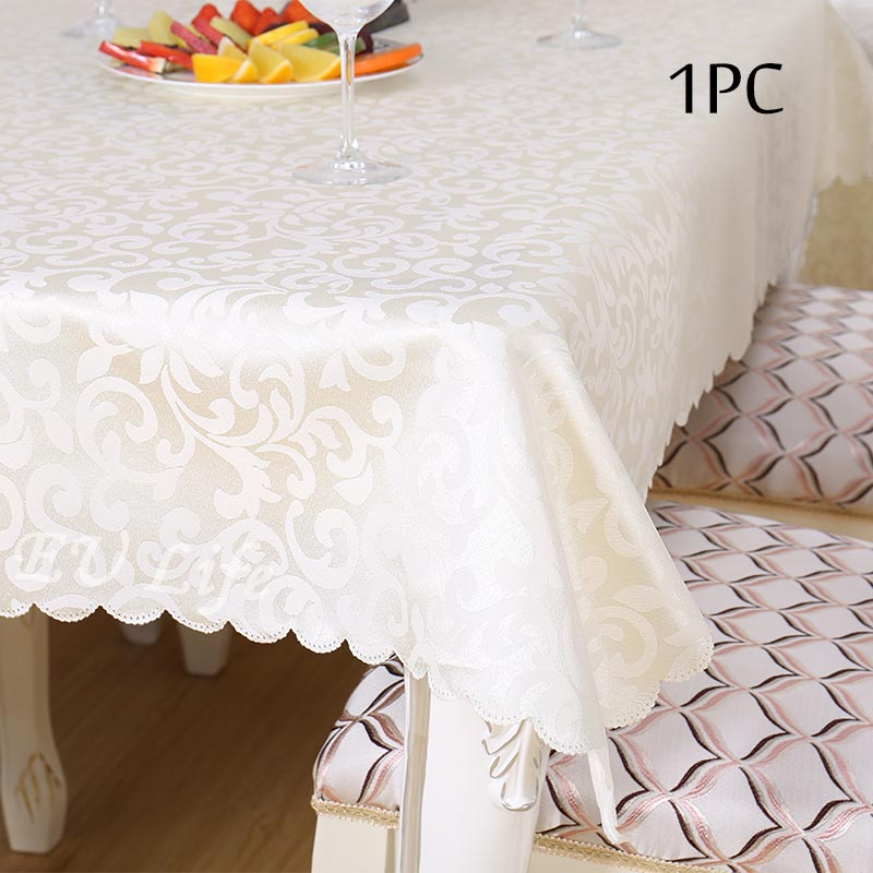 Jacquard Floral Rectangular Tablecloth Home Hotel Dining Wedding Damask Table  Linens Event Party Table Cover Manteles
