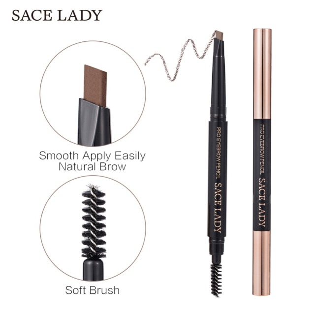 SACE LADY Eyebrow Pencil Makeup Professional Eye Brow Pen Make Up Tint Waterproof Eyebrow Paint Shade Natural Brand Cosmetics 1