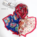 Spain Hot Knitted Bandana Silk Chiffon Scarf 2016 Autumn and Winter New Scarf Collar Satin Digital Inkjet Shawl .square Scarves