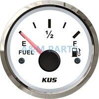KUS Marine Barca Serbatoio Dell'olio Del Serbatoio Del Carburante Gauge Indicatore del Livello di Vuoto Pieno Rosso/Giallo LED 12/24 V 52mm 240-33ohms