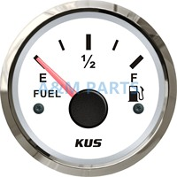 KUS Marine Fuel Tank Gauge Boat Oil Tank Level Indicator Empty Full Red/Yellow LED 12/24V 52mm 240 33ohms