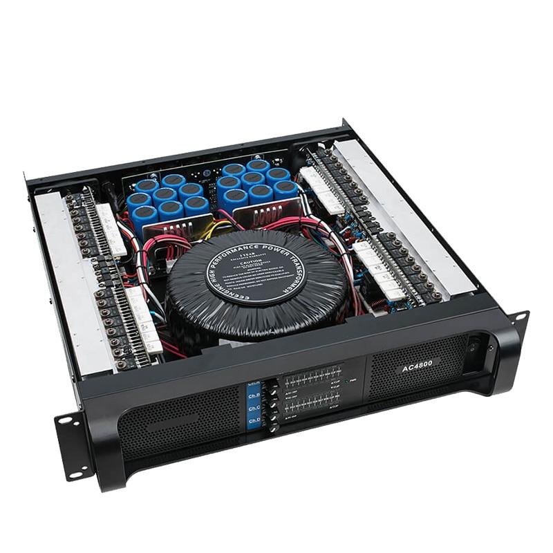 Power amplifier stage power amplifier professional after stage pure power amplifier AC 300 800W 2U Four