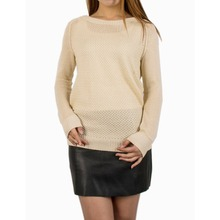 Knitted Ladies Jumper with Round Neck