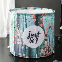 70 X 65CM Bracket bath barrel home foldable waterproof cloth bath tub adult large thick body bath barrel ZP4031701