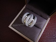 choucong Eternity Jewelry 236pcs Stone 5A Zircon stone 14KT White Gold Filled Women Engagement Wedding Band Ring Sz 5-11