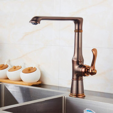 Kitchen faucet Rome bronze water tap cold and hot Sink faucet Vegetable washing basin sink mixer 360 degree rotating faucet