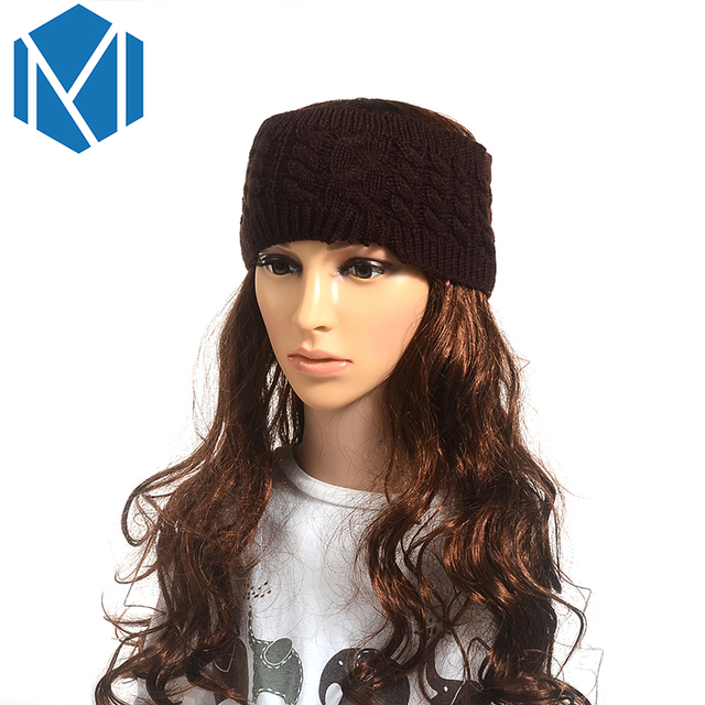 M Mism 5 Patterns Solid Knitted Headband High Quality Hair