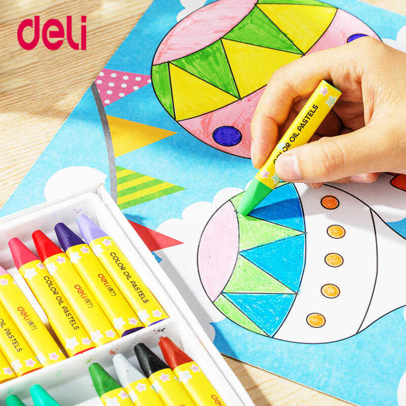 Deli Quality 12/24/36/48 Colors Cute Wax Caryon Set For School Kids Drawing  Art Supply Easy Coloring Pastel Chalk Best Gift Pen|Oil Pastel- AliExpress