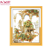 Holiday is coming diy kit chinese cross stitch patterns on canvas embroidery needlework sets counting DMC14ct landscape