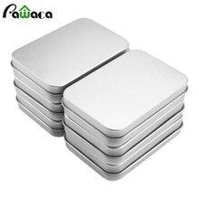 6 шт набор металлических мини коробок для хранения герметичная