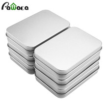 6PCS Mini Metal Tins Box Set Sealed Jar Jewelry Candy Box Small Storage Cans Coin Earrings Headphones Gift Box Case Containers(China)