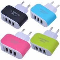 3.1A trzyosobowy portu USB podróży w domu ładowarka AC Adapter do ue wtyczka z wskaźnik