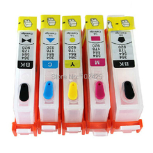 5 Refillable Ink Cartridges for HP 564 564XL PhotoSmart 7520 7515 7510