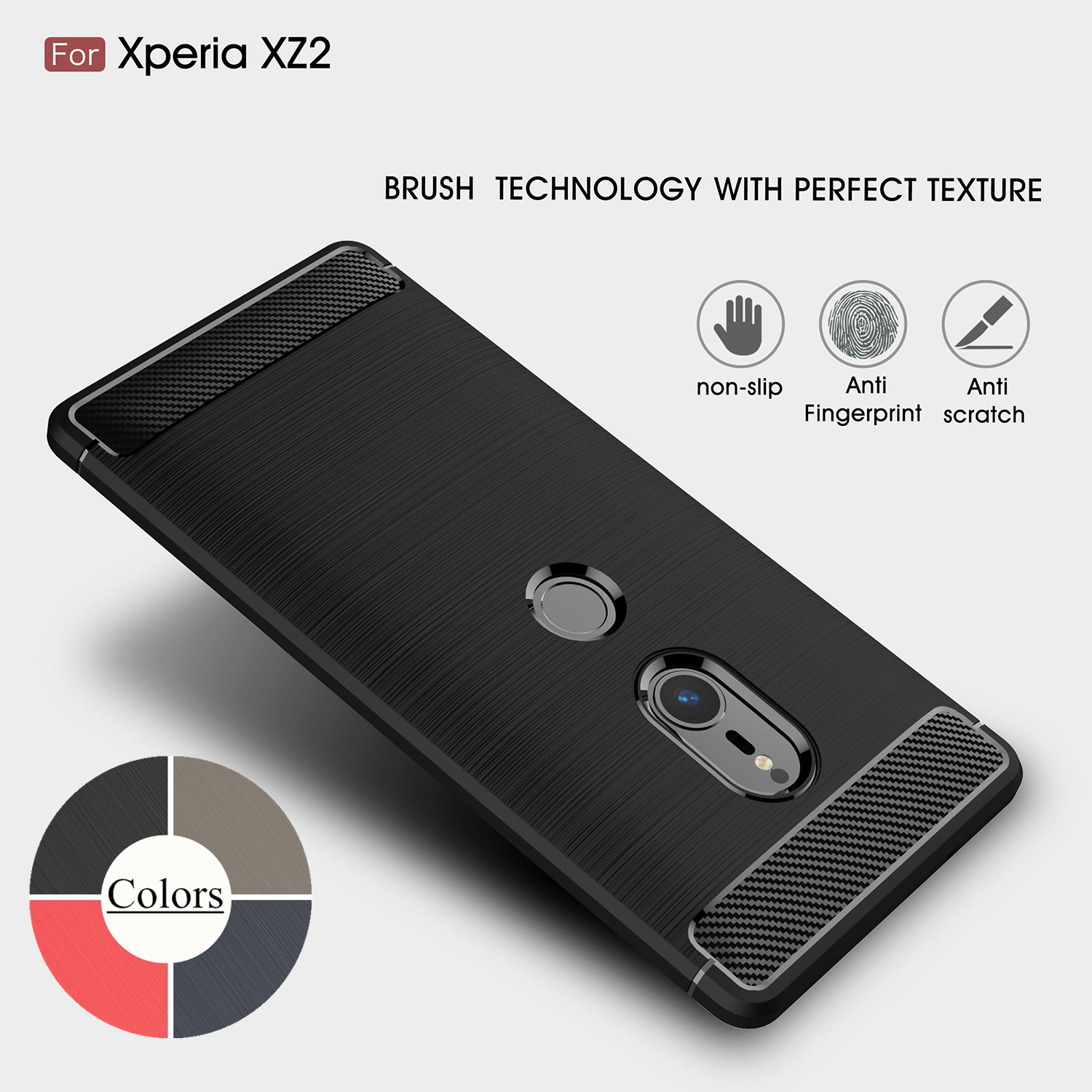the latest 96fb2 43bf5 US $3.79 5% OFF|Case for Sony Xperia XZ2 / XZ2 Compact XZ2c TPU Silicone  Case Ultra thin Soft Cover Matte Feel Phone Case Rugged Armor-in  Half-wrapped ...