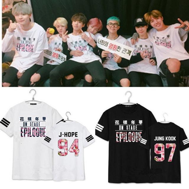 Kpop BTS Bangtan niños parte el estado de Ánimo para el Amor Joven Para Siempre 2016 álbum de k-pop camiseta Ocasional del verano de manga corta T-shirt Camiseta Unisex