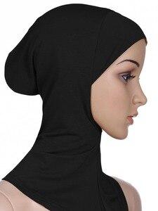 Image 3 - Zachte Onder Sjaal Hoed Cap Bone Motorkap Hijab Islamitische Hoofd Slijtage Hals Volledige Cover Inner Moslim Dame Elastische Ninja Vrouwen hoofddeksels Caps