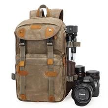 最新ナショナルジオグラフィックカメラバッグバティックキャンバスカメラのバックパック大容量防水写真のバッグカメラケース
