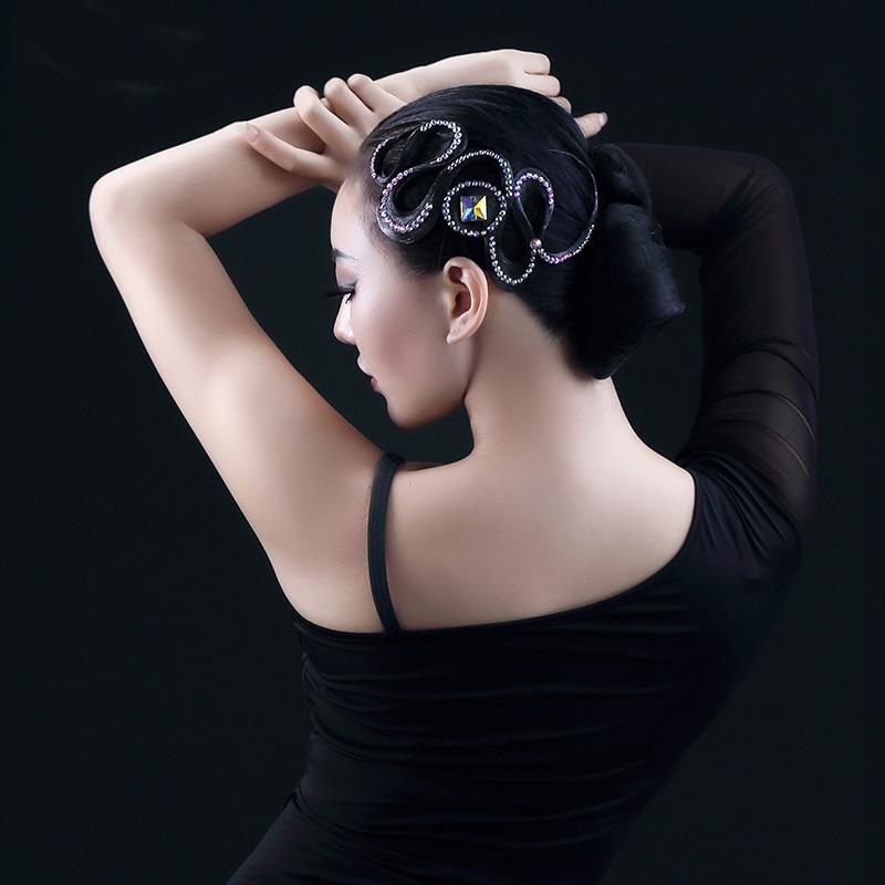 Ballroom Latin Dance Headdress Imitation Diamond Waltz Tango Dance Accessories Competition Professional Hair Accessories DN1459