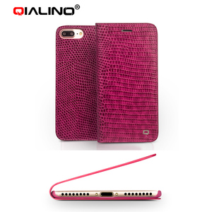 Image 3 - QIALINO for iphone 7 Genuine Leather Case for iphone 7 Plus Real Leather Luxury Women Crocodile Cover for 4.7/5.5 inches
