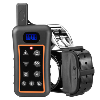 Rechargeable Waterproof Remote Dog Shock Training Collar Electronic LCD Display Shock Training Collar With Beeper