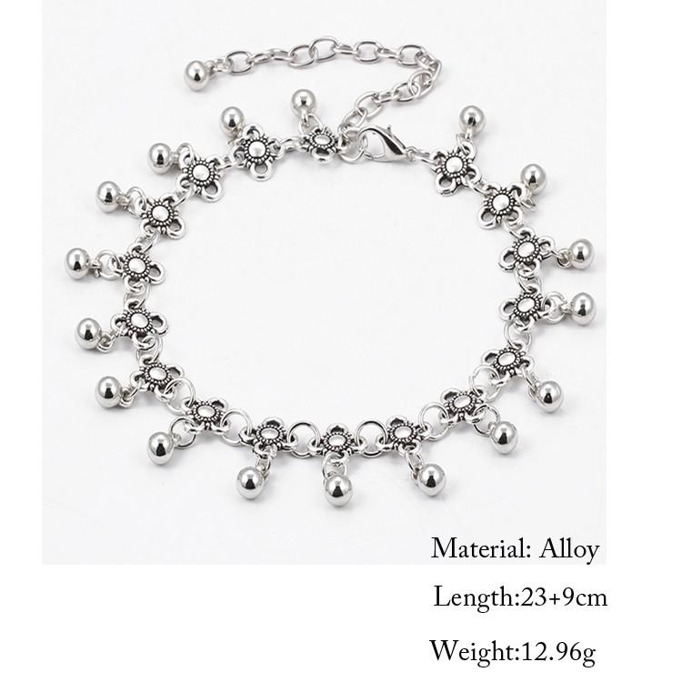 HTB1DaRfMpXXXXa3XFXXq6xXFXXX6 Sterling Silver Anklets - Stylish Women Silver Floral Anklet Foot Chain Jewelry With Charms