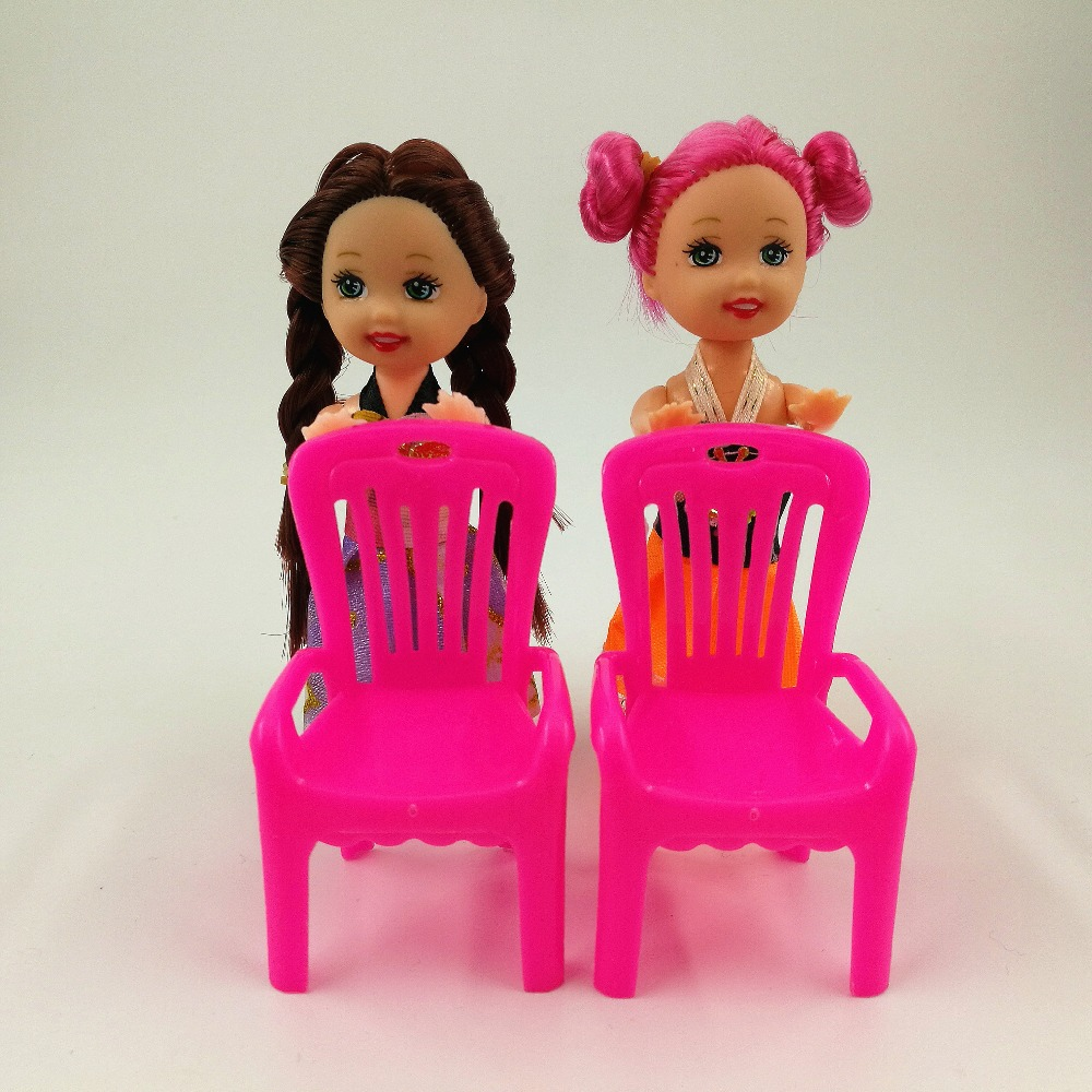 Toys & Hobbies Pretend Play Accessories Mini Chair Cute Little Kelly Doll For Barbie Doll Girl Gift Kid Plays House Furniture Sets Toys