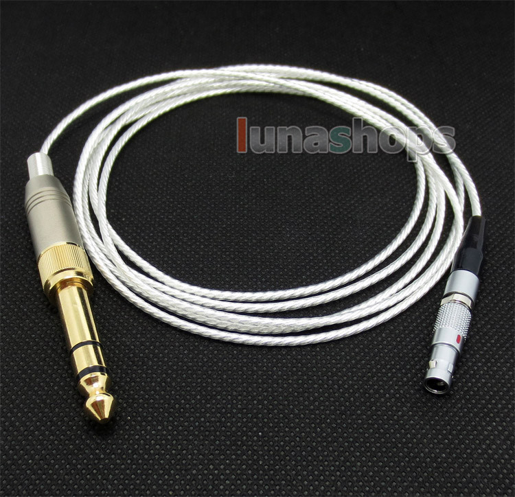 Silver Plated + 6N OCC Earphone Cable For AKG K812 Reference Headphone LN004382* free shipping 100m acrolink silver plated 6n occ signal teflon wire cable 0 3mm2 dia 1 1mm for diy
