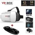 Google Картон VR КОРОБКИ Люнет Виртуальная Реальность 3D Очки Очки 3 D Vrbox Дистанционного Управления Геймпад для iPhone Samsung Android